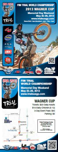2013 USGP Trials World Championship TTC flyer